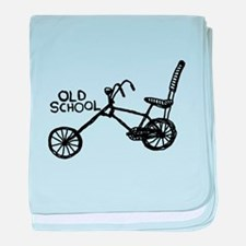 Old School Bike baby blanket