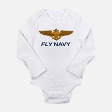 Naval Aviator Wings Fl Long Sleeve Infant Bodysuit