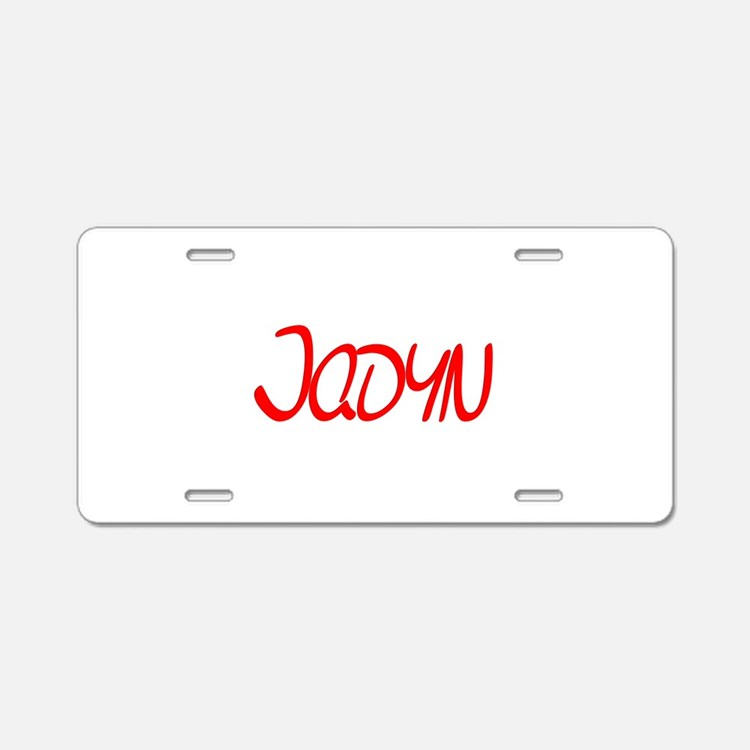 Jadyn Aluminum License Plate