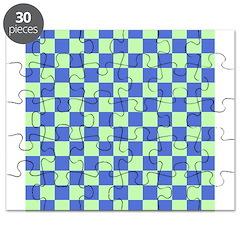 Blue Green Checks Puzzle