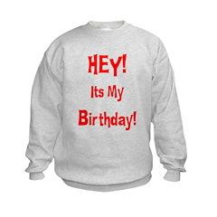 Hey! Birthday! (Red) Sweatshirt