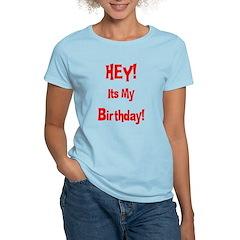 Hey! Birthday! (Red) T-Shirt