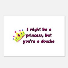 Princess Douche humor Postcards (Package of 8)