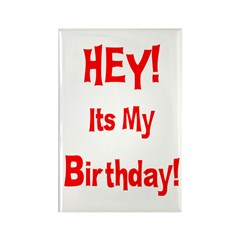 Hey! Birthday! (Red) Rectangle Magnet