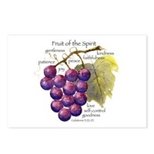 Fruit of the Spirit Design Postcards (Package of 8
