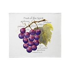 Fruit of the Spirit Design Throw Blanket