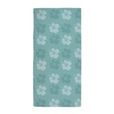 Blue Hibiscus Flowers Beach Towel