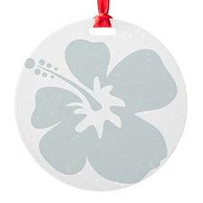 Blue Hibiscus Flower Ornament