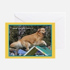 Golden Retriever Camera Birthday Greeting Card