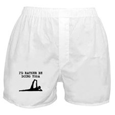 Id Rather Be Doing Yoga Boxer Shorts