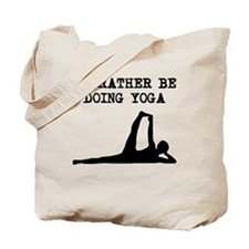 Id Rather Be Doing Yoga Tote Bag