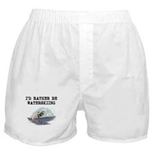 Id Rather Be Waterskiing Boxer Shorts