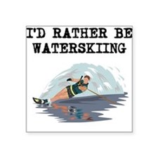 Id Rather Be Waterskiing Sticker