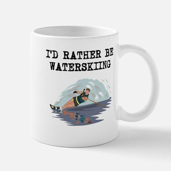 Id Rather Be Waterskiing Mugs