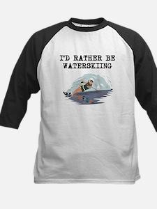 Id Rather Be Waterskiing Baseball Jersey