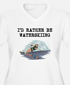 Id Rather Be Waterskiing Plus Size T-Shirt