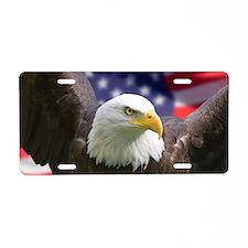 American Flag Eagle Aluminum License Plate