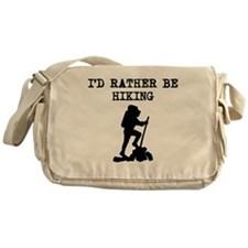 Id Rather Be Hiking Messenger Bag