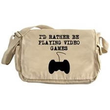 Id Rather Be Playing Video Games Messenger Bag
