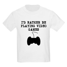 Id Rather Be Playing Video Games T-Shirt