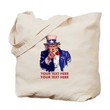 Personalize Uncle Sam Tote Bag