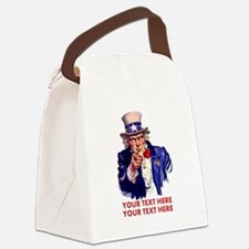 Personalize Uncle Sam Canvas Lunch Bag