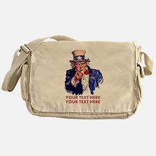 Personalize Uncle Sam Messenger Bag