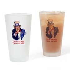 Personalize Uncle Sam Drinking Glass