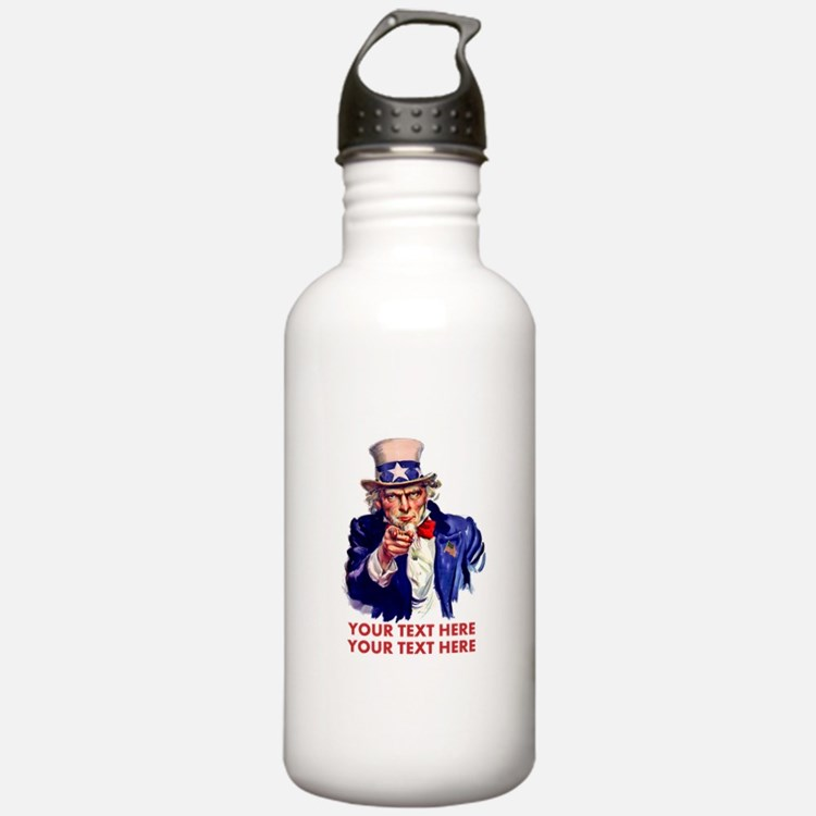 Personalize Uncle Sam Water Bottle