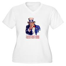 Personalize Uncle Sam Plus Size T-Shirt