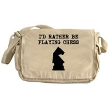 Id Rather Be Playing Chess Messenger Bag