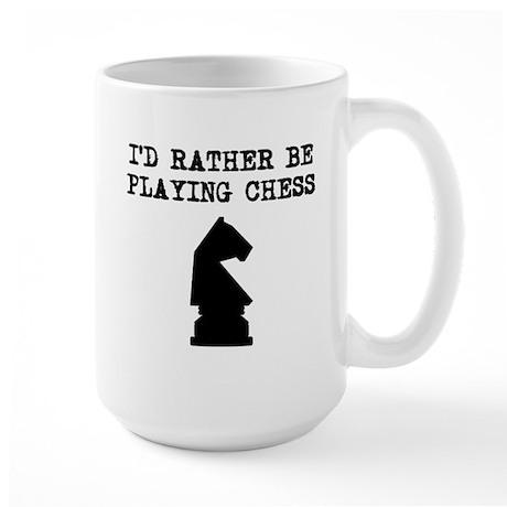 Id Rather Be Playing Chess Mugs