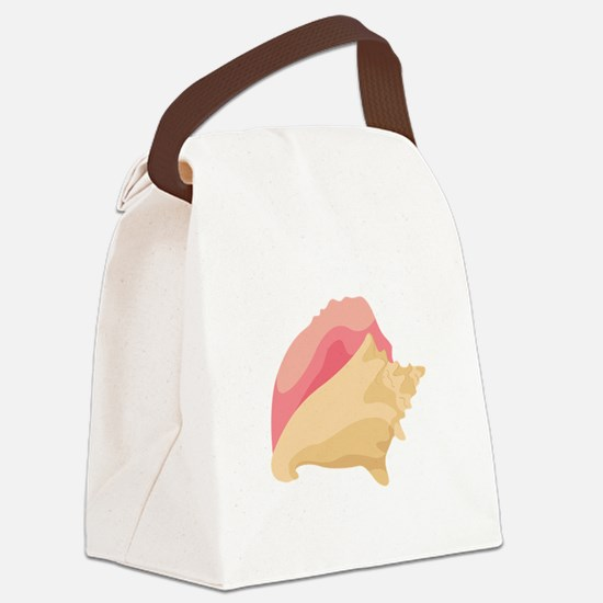 Conch Shell Canvas Lunch Bag