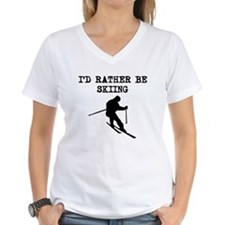 Id Rather Be Skiing T-Shirt