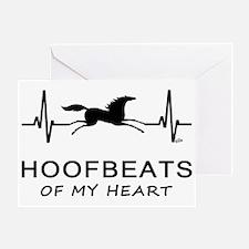 Horse Hoofbeats Heart Greeting Card