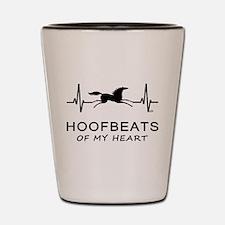 Horse Hoofbeats on my Heart Shot Glass