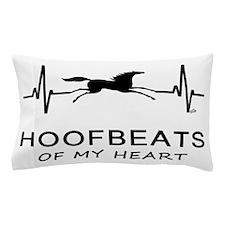 Horse Hoofbeats on my Heart Pillow Case