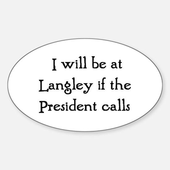 langley Sticker (Oval)