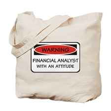 Attitude Financial Analyst  Tote Bag