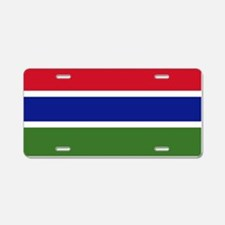 Flag of Gambia Aluminum License Plate