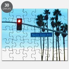 Pacific Coast Highway Sign California Beach Puzzle
