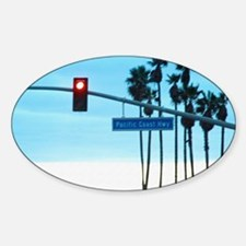 Pacific Coast Highway Sign Californ Sticker (Oval)