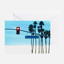 Pacific Coast Highway Sign Californi Greeting Card