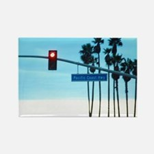 Pacific Coast Highway Sign Califo Rectangle Magnet