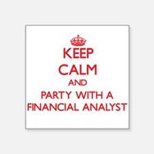 Keep Calm and Party With a Financial Analyst Stick