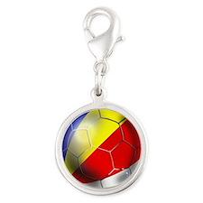 Seychelles Football Silver Round Charm