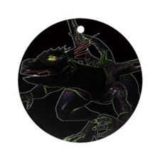 Dragon, glowing edges Ornament (Round)