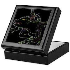 Dragon, glowing edges Keepsake Box