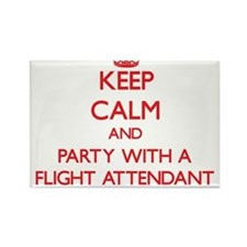 Keep Calm and Party With a Flight Attendant Magnet