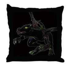 Dragon, glowing edges Throw Pillow